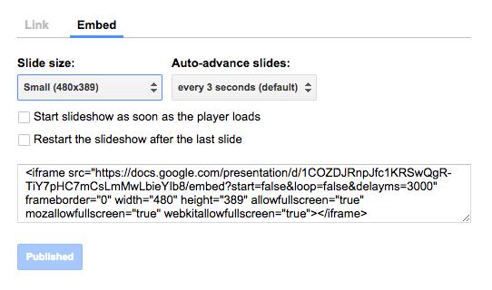 Google Presentation embed 1