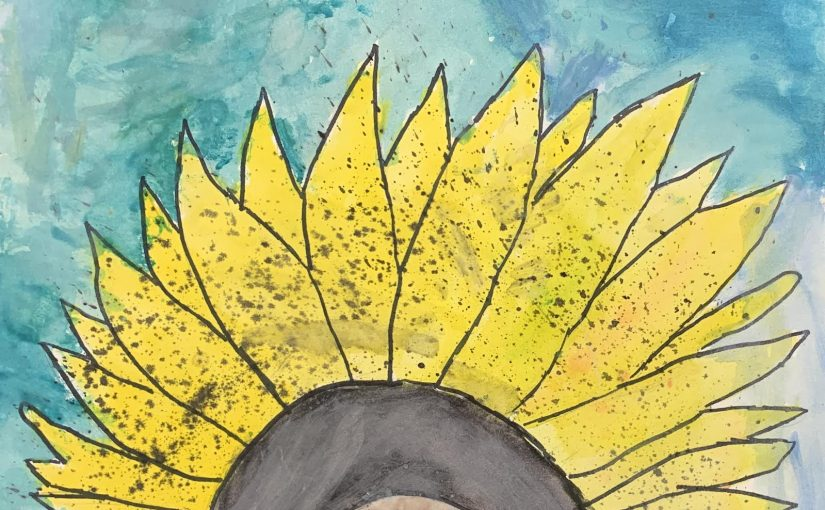 Sunflower Watercolor Art