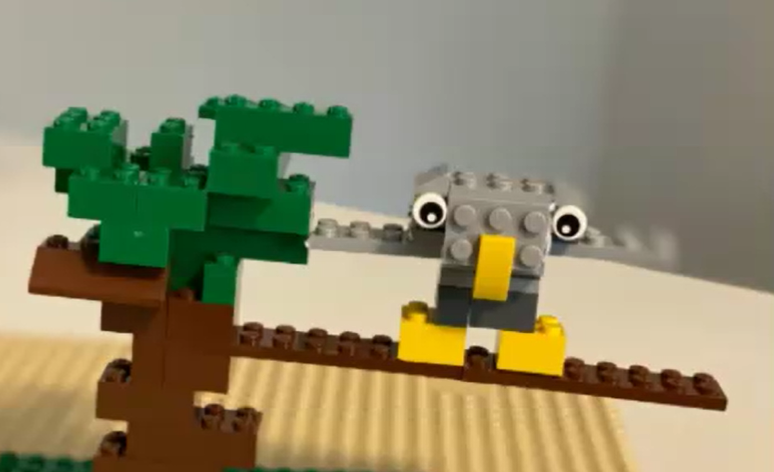 Owl Habitat with Lego