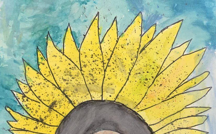 Sunflower Watercolor Art